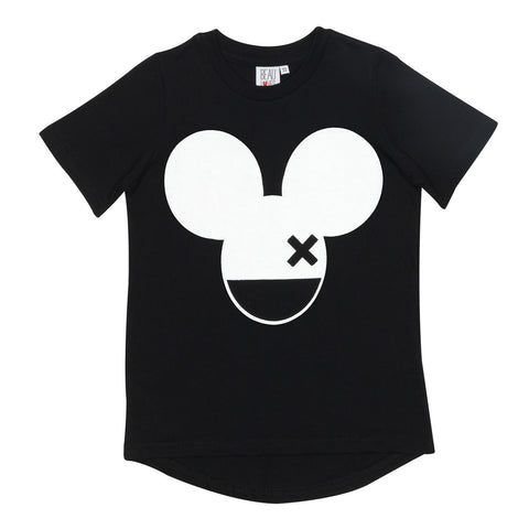 Fin t-shirt Mouse X by Beau LOves - inky black