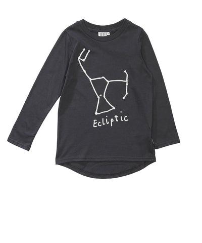 Fin tee Ecliptic by Beau LOves - Charcoal