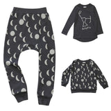 Beau LOves - Fin tee Ecliptic and Moons pants and jumper