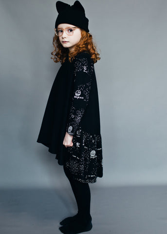 Galaxy Luna dress by Beau LOves - jet black