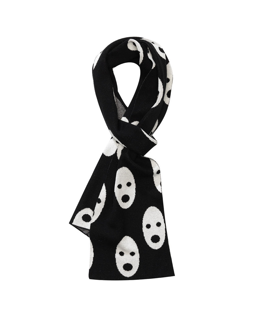 Beau LOves - Knit scarf Ghosts - black