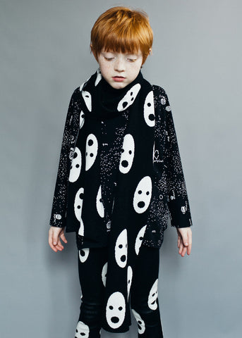 Knit scarf Ghosts by Beau LOves - black