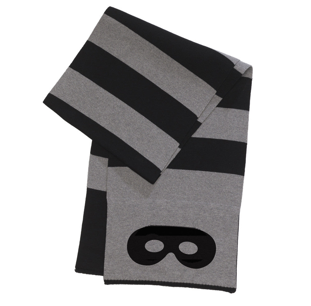 Beau LOves - Knitted scarf Stripes - grey & black