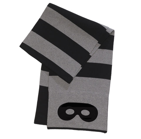 Knitted scarf Stripes by Beau LOves, grey & black