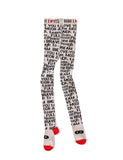 Beau LOves - Lettering tights - Grey