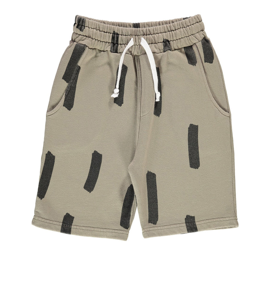 Beau LOves - Long shorts Paint Brush - olive green