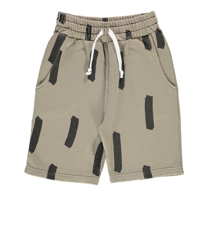Boys' long shorts Paint Brush by Beau LOves - olive green