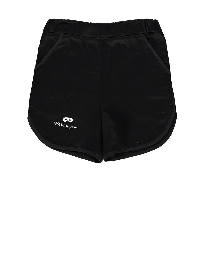 Beau LOves - Old school shorts We Love You - black