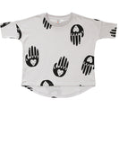 Beau LOves - Oversize top Loves Hands - Dove Grey