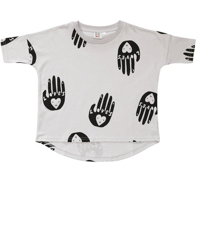 Girls oversize tee Mara by Loud Apparel - white
