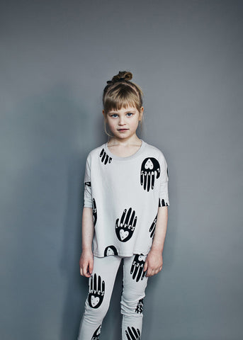 Oversized top Love Hands by Beau LOves - Dove Grey