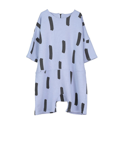 Kids oversized playsuit Paint Brush by Beau LOves - chalk blue
