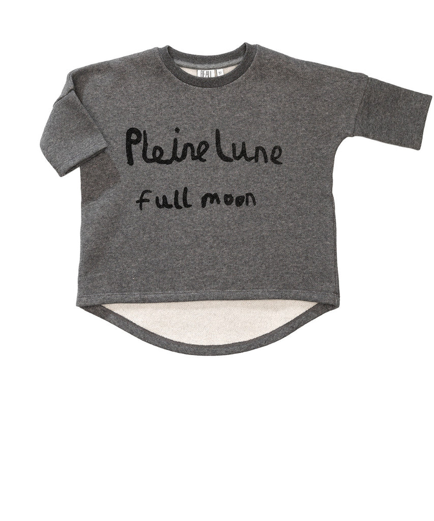 Beau LOves - Oversized top Pleine Lune - Silver fleck