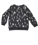 Beau LOves - Raglan jumper Moons - Charcoal