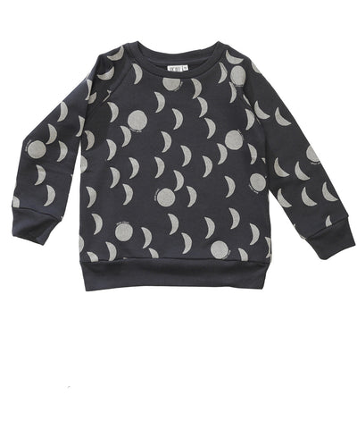 Raglan jumper Moons by Beau LOves - Charcoal