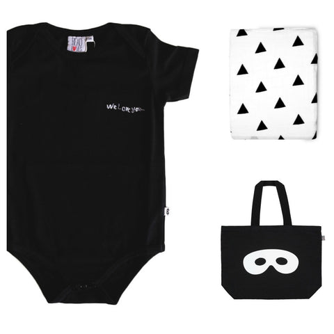 Black baby body We Love You by Beau LOves