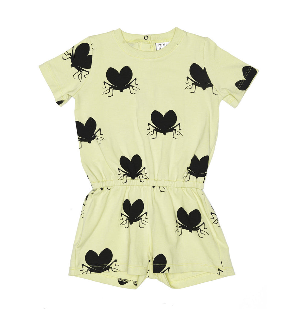 Beau Loves SS15: Shorts Playsuit Pistachio lovebugs
