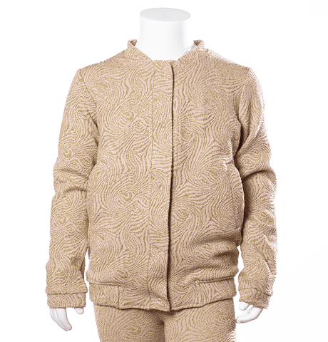 Hoodie with embroideries Anna by Come Noon - soft pink & gold