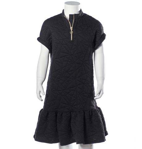 Quilted dress Ellen by Come Noon - black