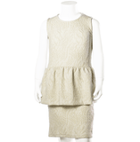 Come Noon - dress with embroideries Lilli - white & gold-min