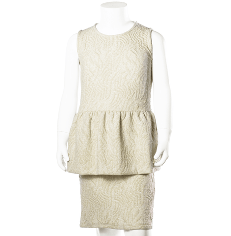 Dress with embroideries Lilli by Come Noon - off white & gold