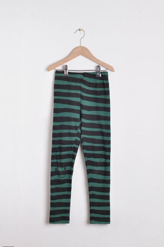 Leggins zebra green