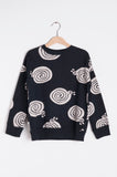 Sweatshirt Black Snails
