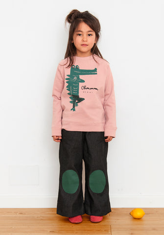 Sweatshirt Yoga Crocodile by Nadadelazos