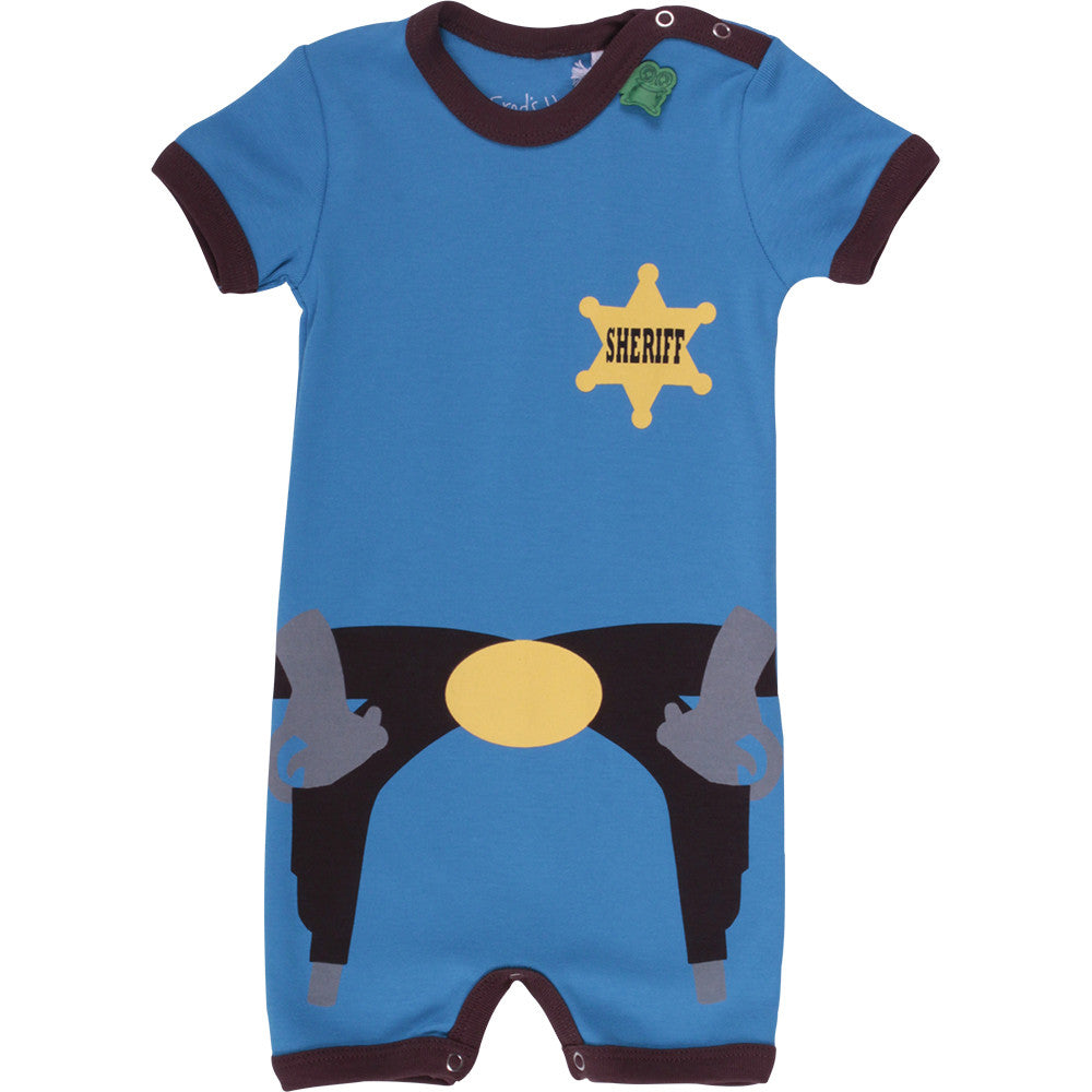 Green Cotton: Cowboy bodysuit - organic baby clothes