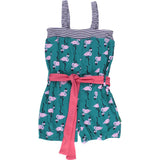 Green Cotton: Girls Flamingo suit - Kids fashion