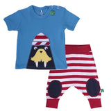 Green Cotton: Sailor tee & Striped funky pants - Organic baby clothes