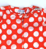 KIK-KID: Baby dress with polka dots - zoom