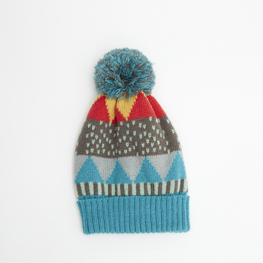 Indikidual - Pattern knitted hat Cecil