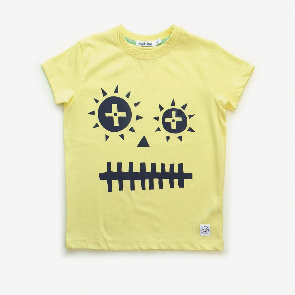 Indikidual - face tee yellow