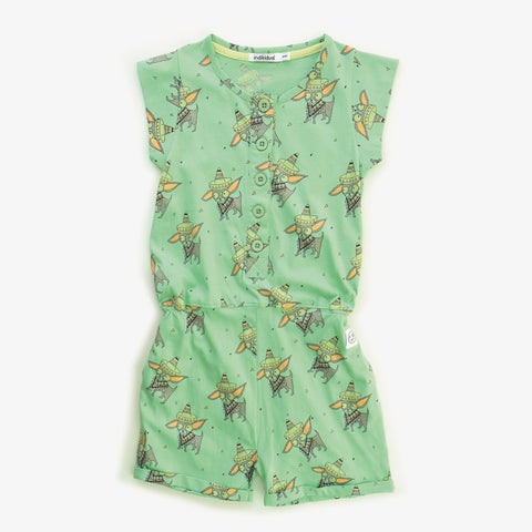Kids short jumpsuit Chihuahua by Indikidual