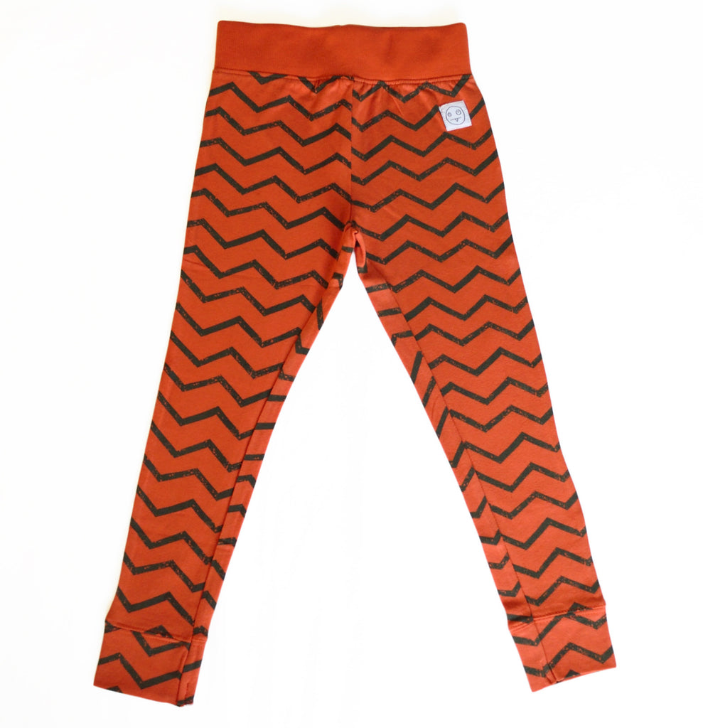 Indikidual - red zig zag legging | Cool kids clothes