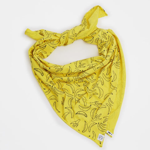 Banana scarf-blanket Soba by Indikidual - yellow