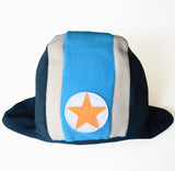 KIK-KID: Baby fleece hat speedy blue/dark blue - front
