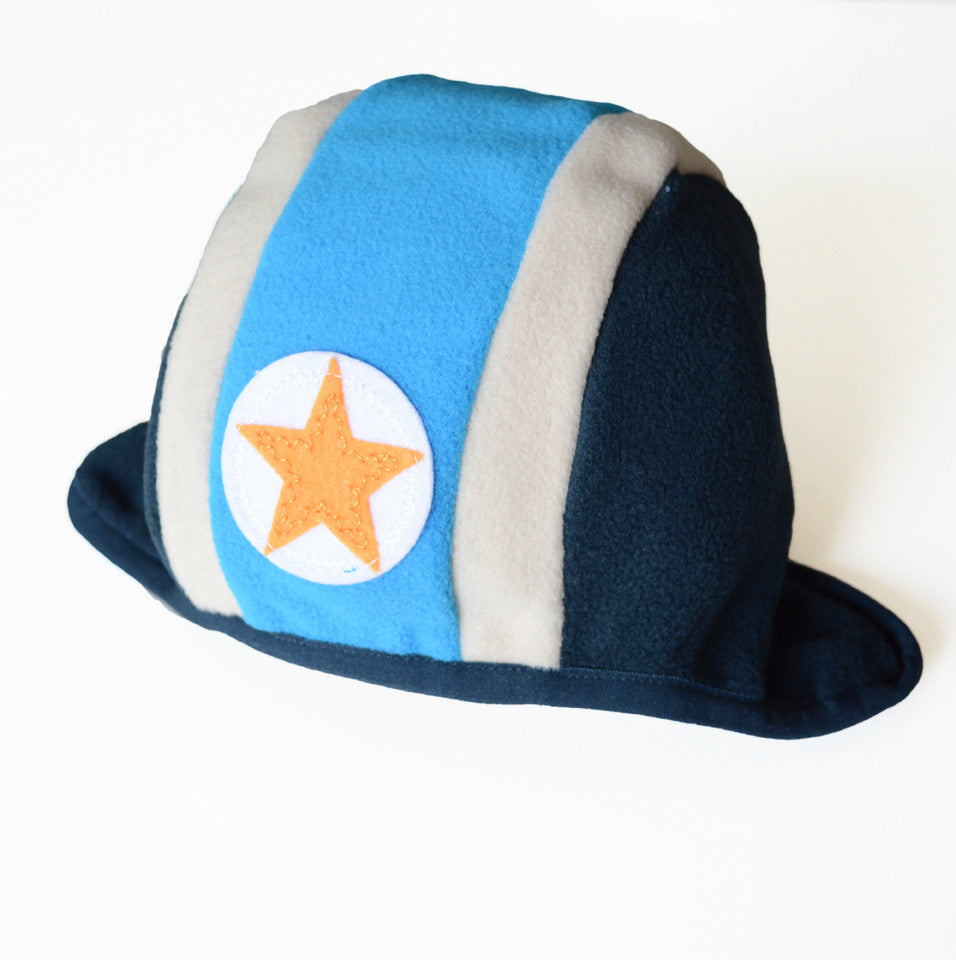 KIK-KID: Baby fleece hat speedy blue/dark blue - side