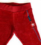 KIK-KID: terry pants red - detail
