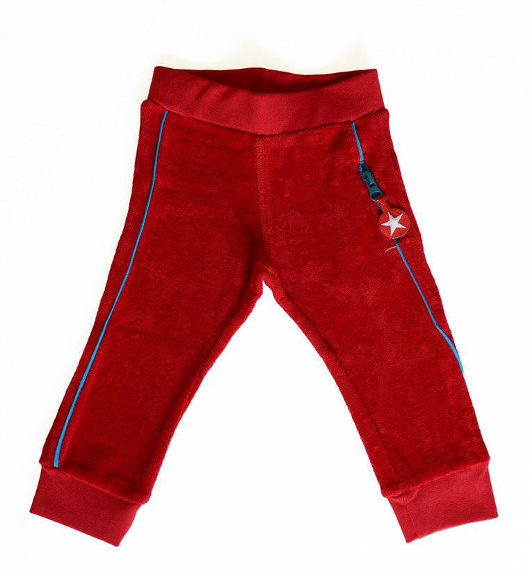 KIK-KID: terry pants red