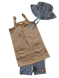 KIK-KID SS15: Organic baby dress in washed jersey with star hat and shorts