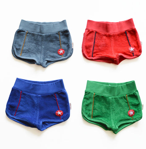 Baby terry shorts by KIK-KID - green