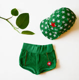 KIK-KID SS15: baby terry shorts green and star cap