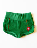 KIK-KID SS15: baby terry shorts green