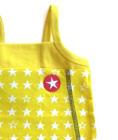 Star dress by KIK-KID, yellow