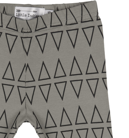 Baby pants Shark Teeth by Little Indians - charcoal