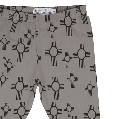Baby pants Sun by Little Indians - Charcoal
