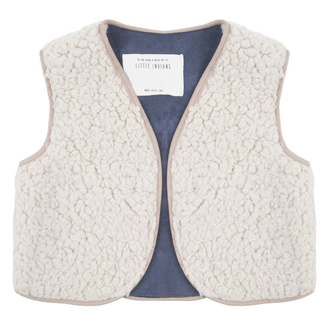 Pluche gilet by Little Indians