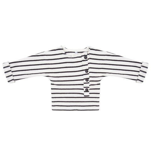 Sweater Button Stripe by Little Indians